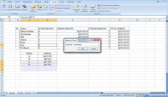 Mengunci Rumus Rumus Pada Ms Excel Supaya Tidak Berubah