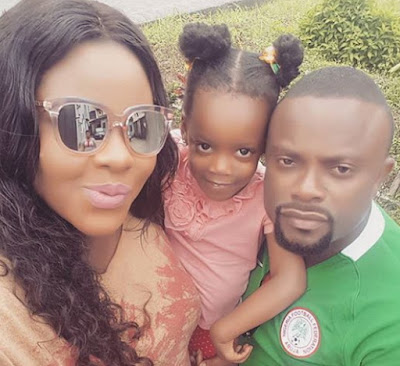 okon lagos wife gives birth