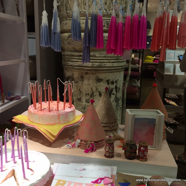 birthday candles at abc carpet & home in NYC