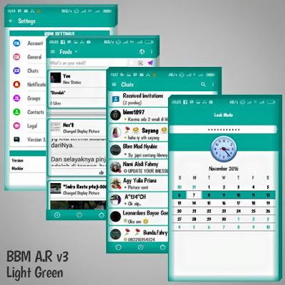 BBM Mod AR v3 Light Green Version 3.1.0.13 Apk