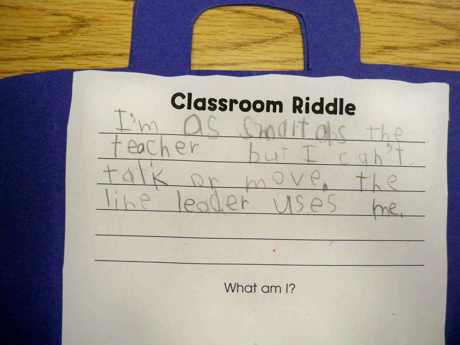 First Grade Best Riddles