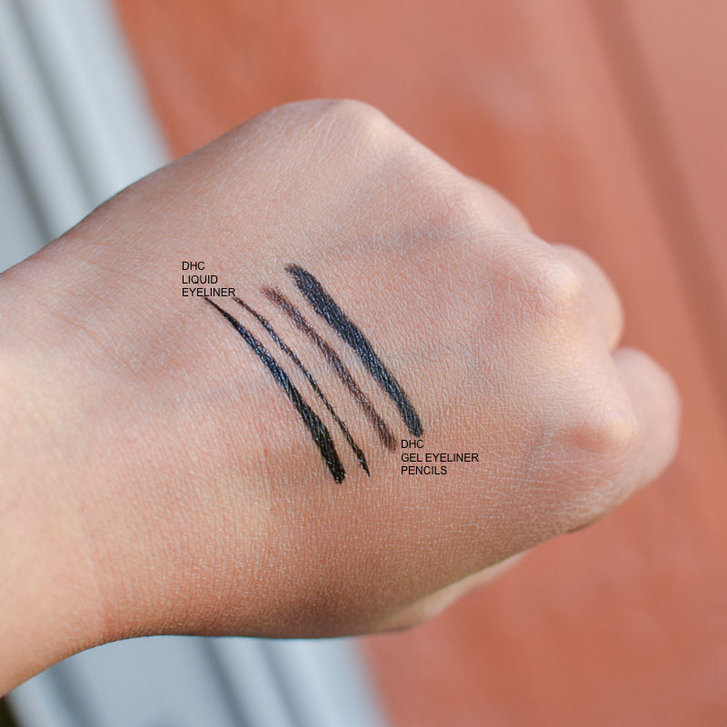 DHC Makeup - Liquid Eyeliner Pen - Gel Pencil - Swatches