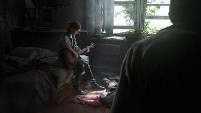 The Last of Us Part 2 - Ellie tocando violão e Joel olhando