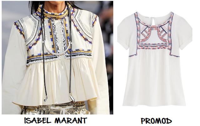 clones 2016 blusa Isabel Marant Promod