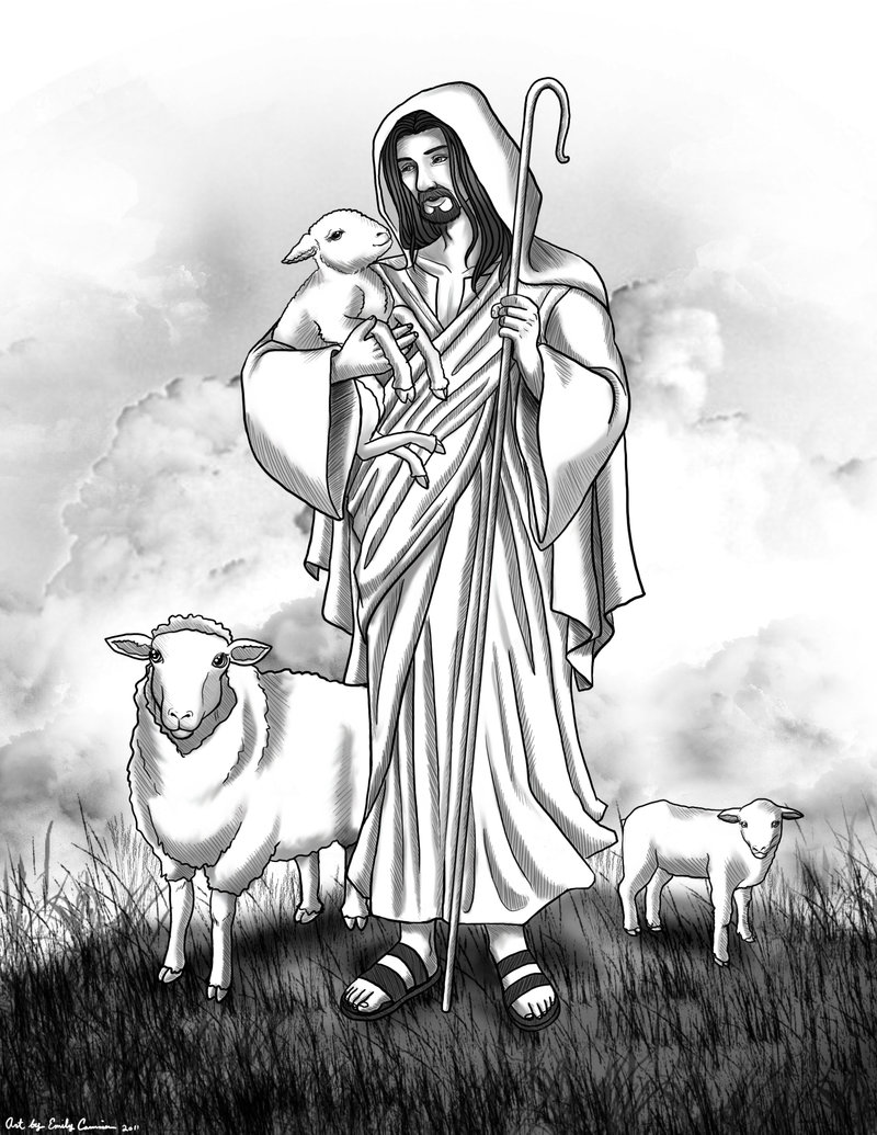 The Good Shepherd Bible Story Coloring Page