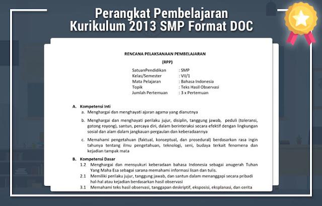 Perangkat Pembelajaran Kurikulum 2013 SMP