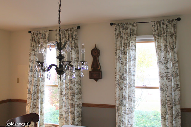 Gold Shoe Girl: Custom Curtains for the Dining Room