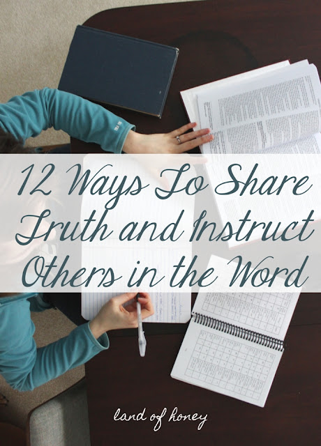 Great ideas for sharing Scripture with someone in a non overwhelming way :)