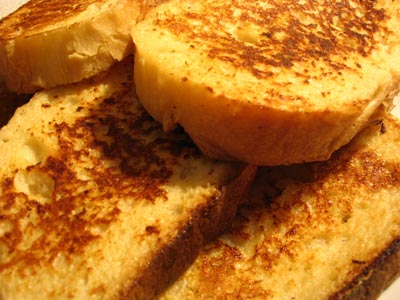 Eggnog & Rum French Toast