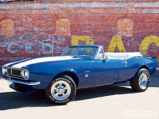 1967 Chevy Camaro SS Convertible Blue Picture