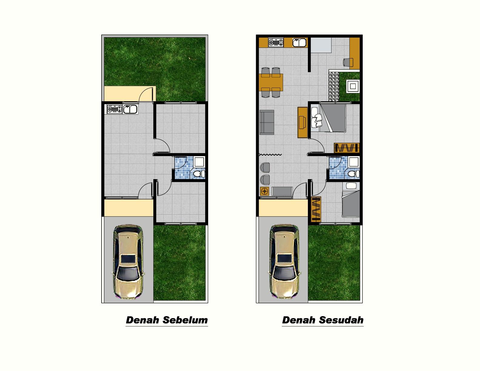 gambar denah rumah sederhana type 36 2