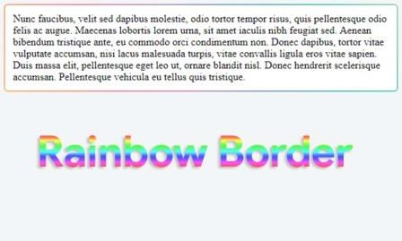 Tutorial Creating a Rainbow Border Effect With CSS