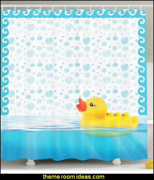 Yellow Rubber Ducks Mom Carrying Baby Ducks Swimming Bathing Ducks Bath Bubbles Kids Babies Art Prints Nursery Bathroom