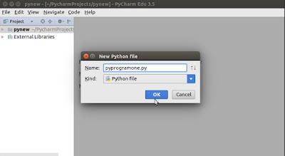 Create and name Python File