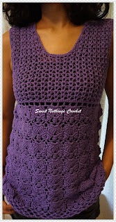 free crochet top pattern, ladies top pattern, 4-ply yarn, Anchor knitting cotton,
