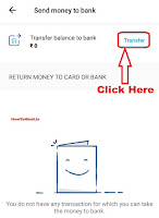 how to send paytm wallet cash to bank account