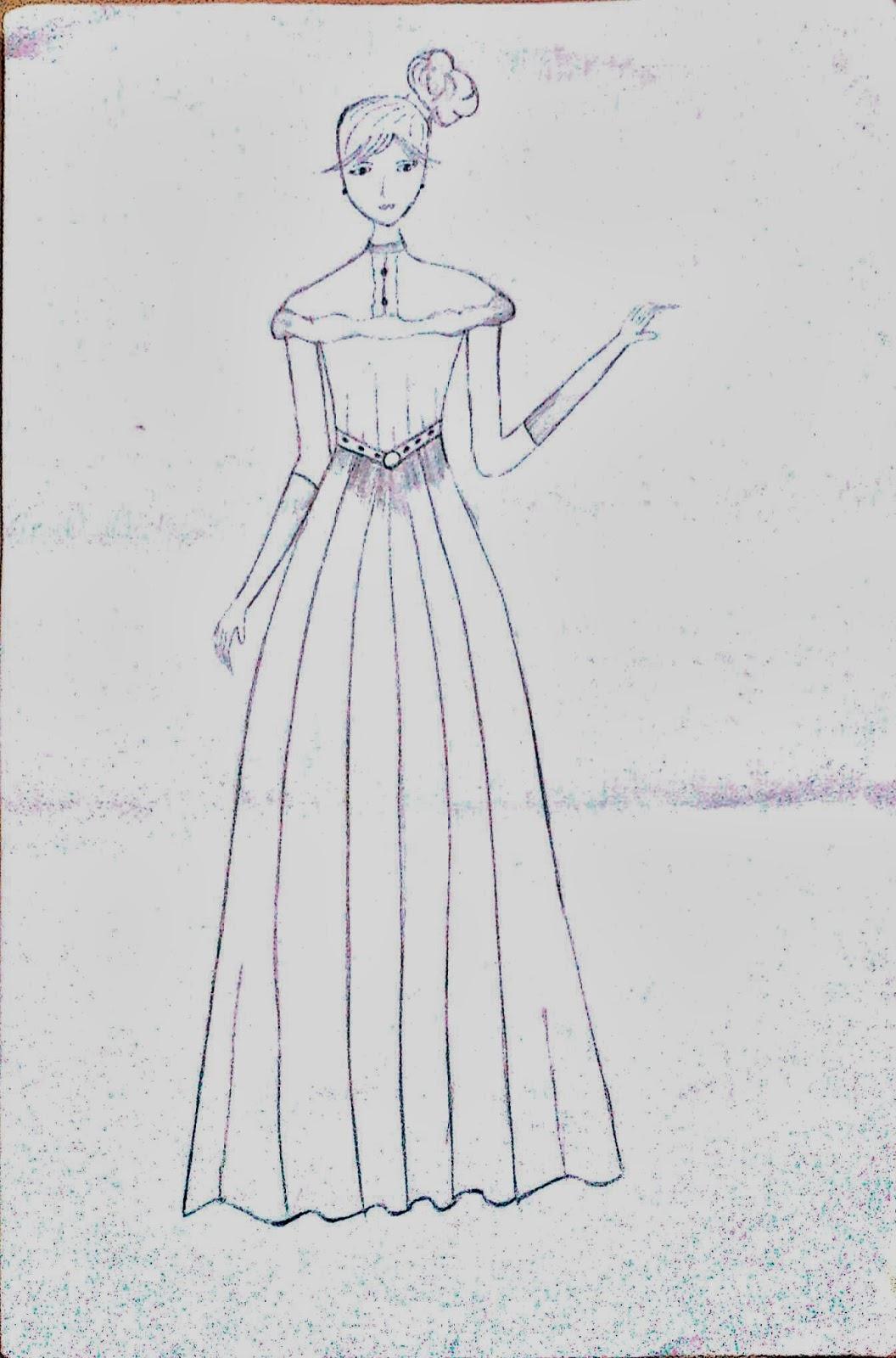 Sketsa Desain Baju Pesta Remaja Muslimah