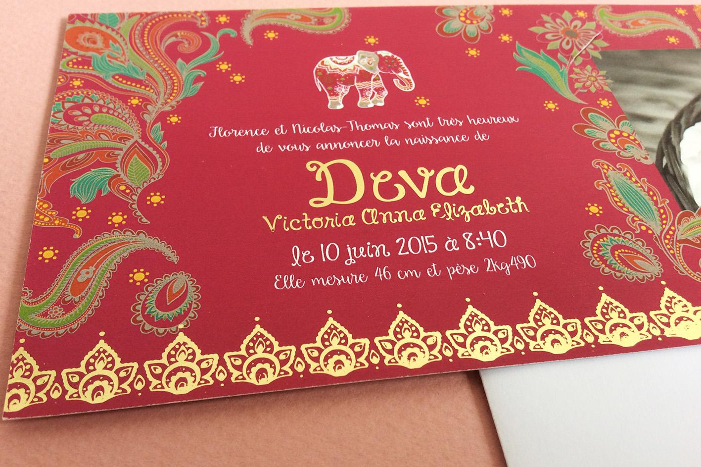 faire part mariage indien