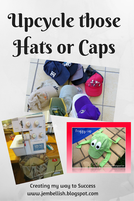 Upcycling hats or caps