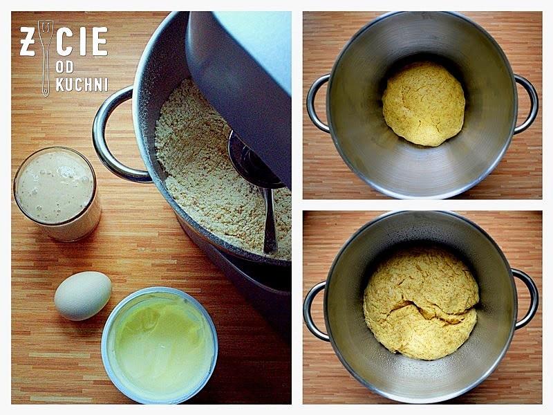 ciasto krucho-drożdżowe, ciasto na rogaliki, bryndza, zycie od kuchni