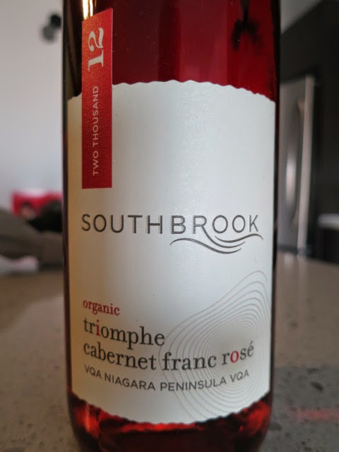 Wine label of 2012 Southbrook Triomphe Cabernet Franc Rosé from VQA Niagara Peninsula, Ontario, Canada