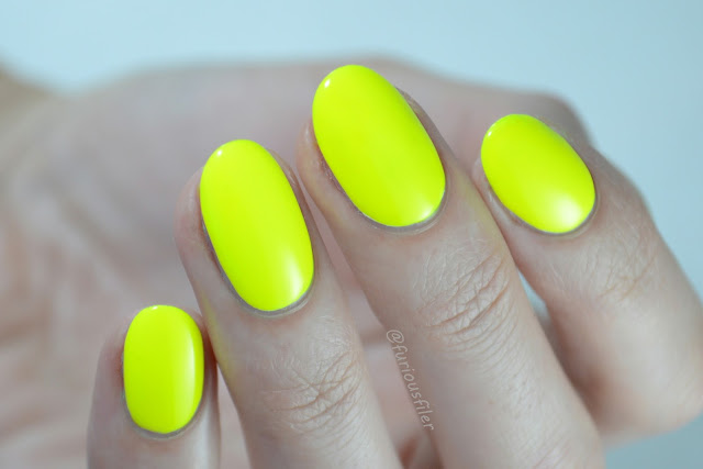 luis lemon models own swatch neon highlighter yellow