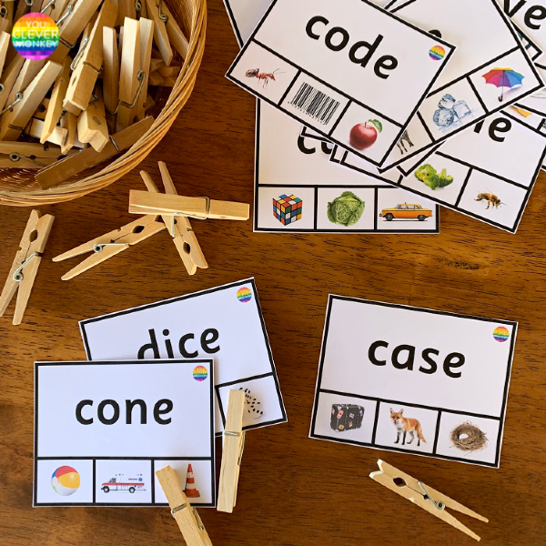 CVCe Word Clip Cards | you clever monkey