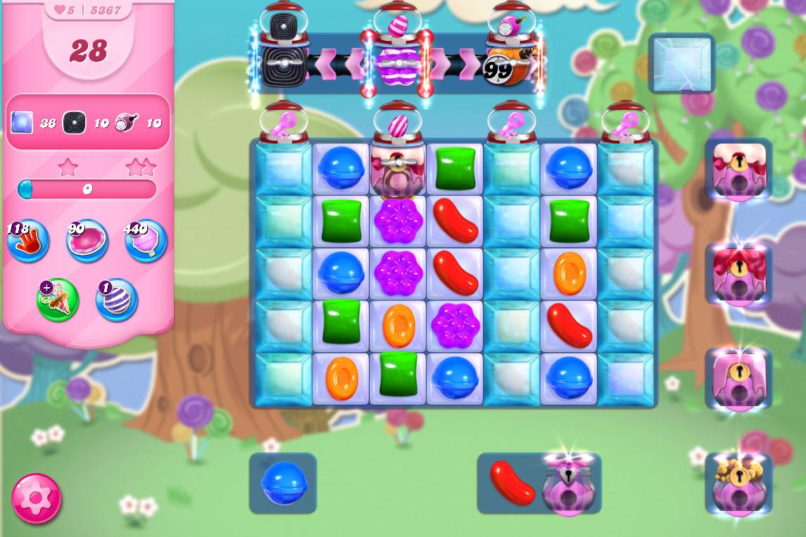 Candy Crush Saga level 5367