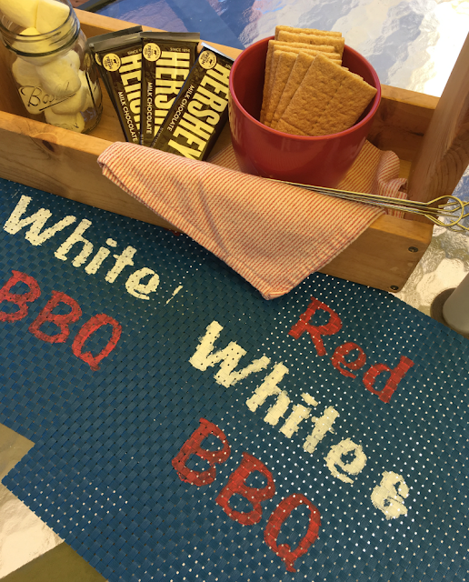 Make these Red, White, and BBQ placemats using your Cricut and Dollar Tree supplies!