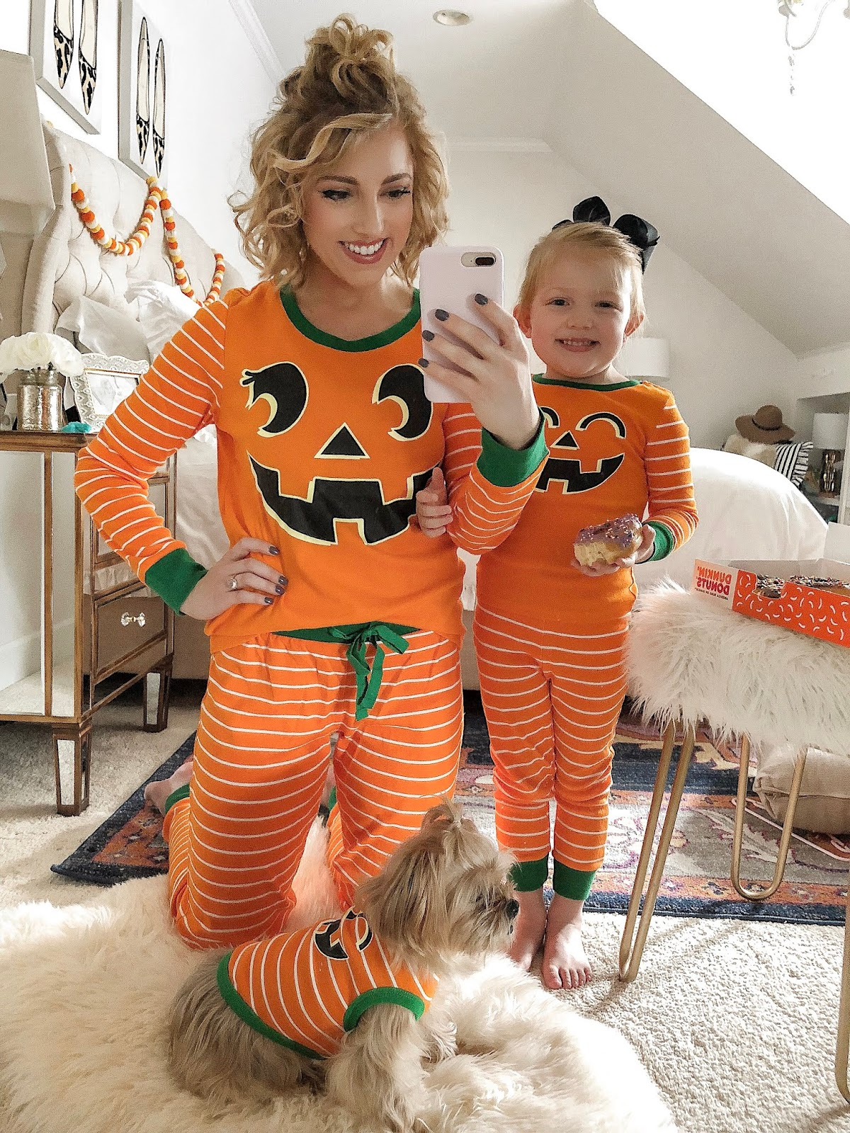 Pumpkin PJs for the Whole Family - Something Delightful Blog
