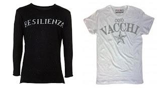 Da Resilienza a Odio Gianluca Vacchi sulle magliette Pakkiano