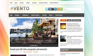 Vento Blogger Template