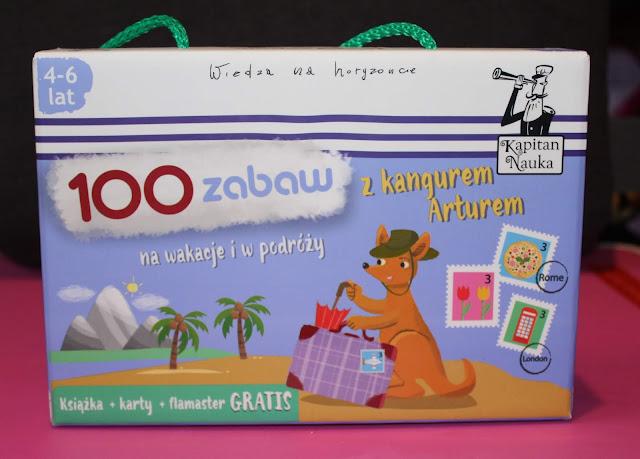 100 zabaw z kangurem arturem, kapitan, nauka, recenzja, opinie, karty, gry, dzieci, dziecko, gra dla rodzenstwa, co, zrobic, z , dzieckiem, podroz, podrozy, wyjaz, wycieczka, gdy, pada deszcza