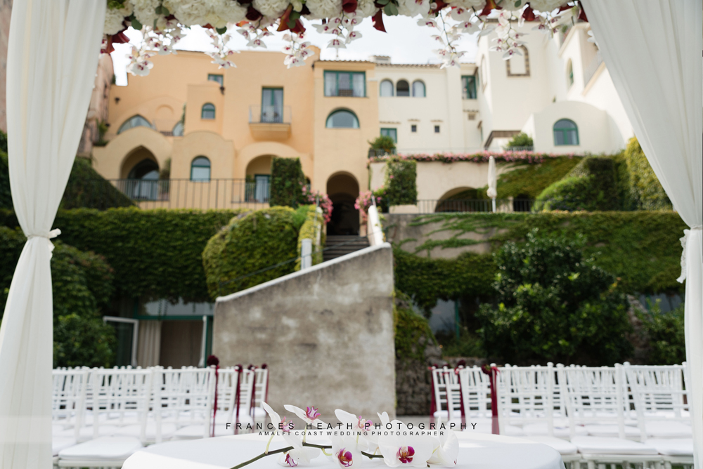 Hotel Caruso wedding ceremony