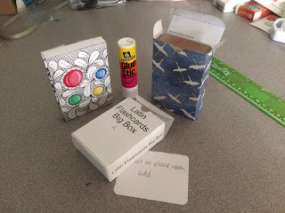 Tuckboxes for cards with labels or Zentangle style decoration or chiyogami