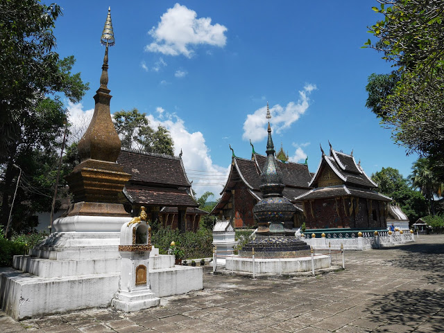 temple builds at wat xieng thong, luang prabang, laos