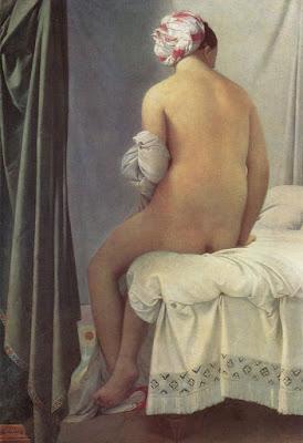Jean-Auguste-Dominique Ingres.Bagnante di Valpinçon, ispirazione per Le violon d'Ingres