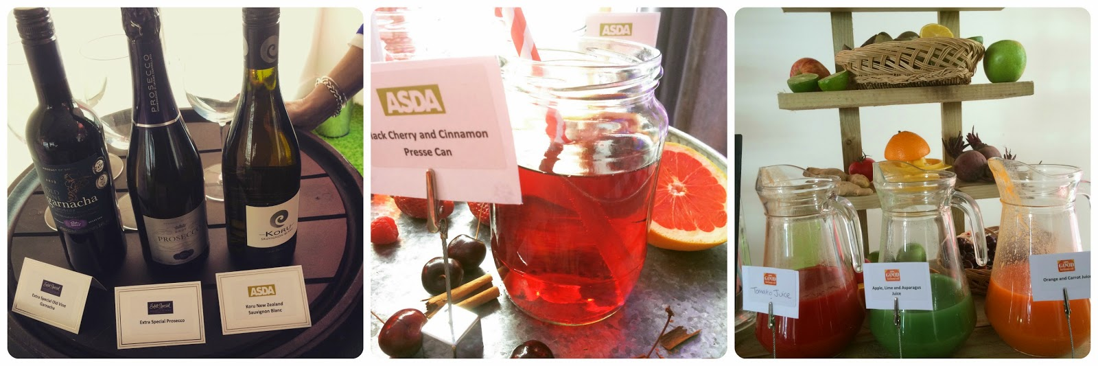 wine, press and smoothies from #AsdaSpringSummer 2015