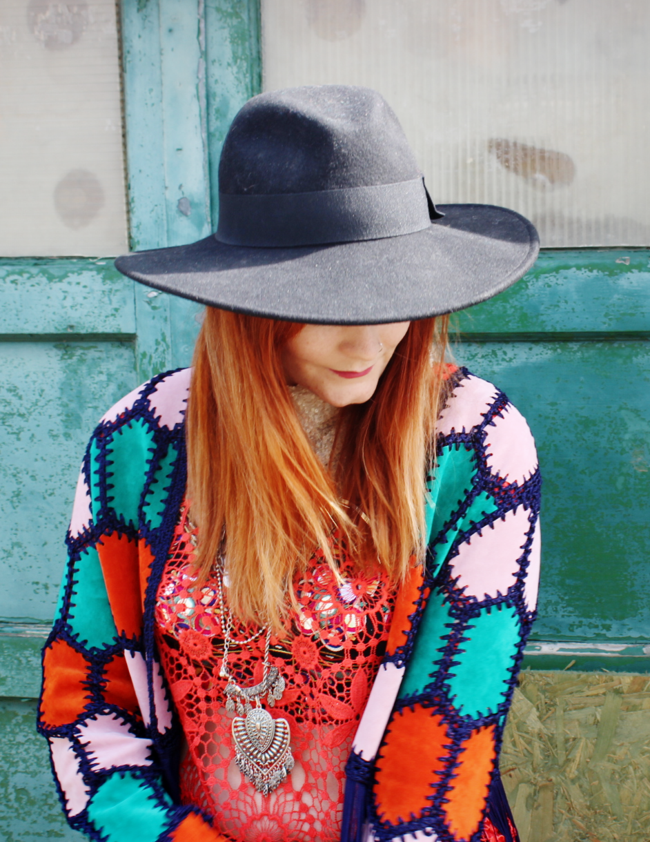 Rainbow Topshop Crochet Jacket