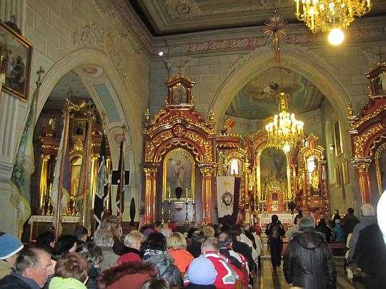 Wnętrze kościoła pw. św. Andrzeja Apostoła
