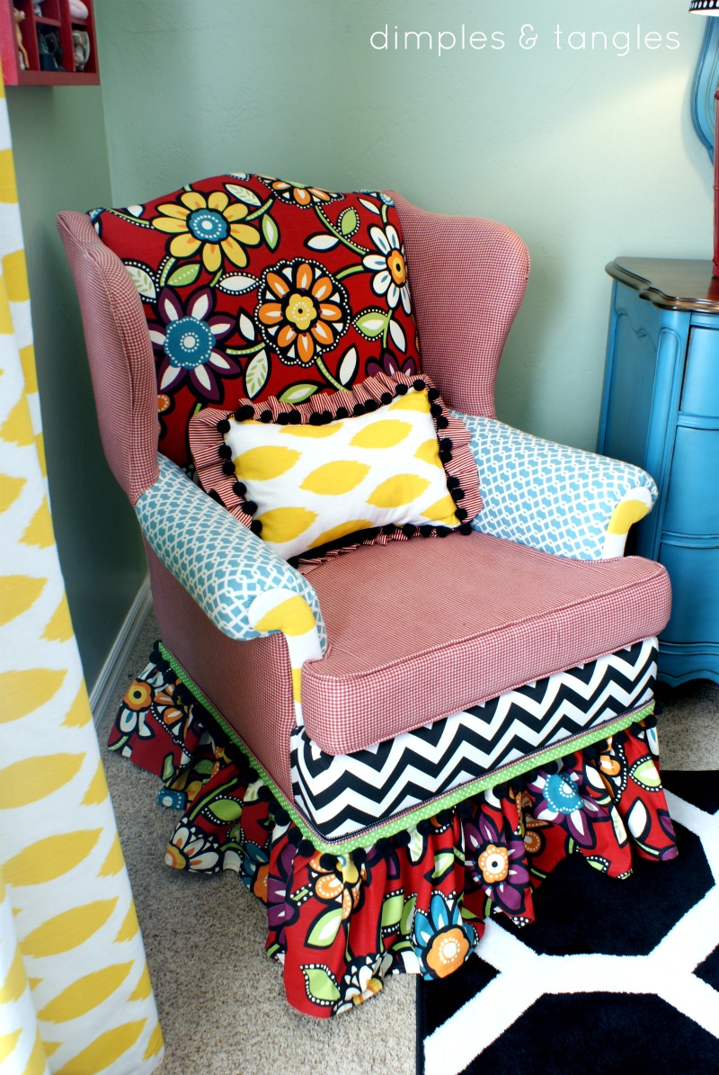 How To Reupholster A Chair With A Hot Glue Gun Dimples And Tangles