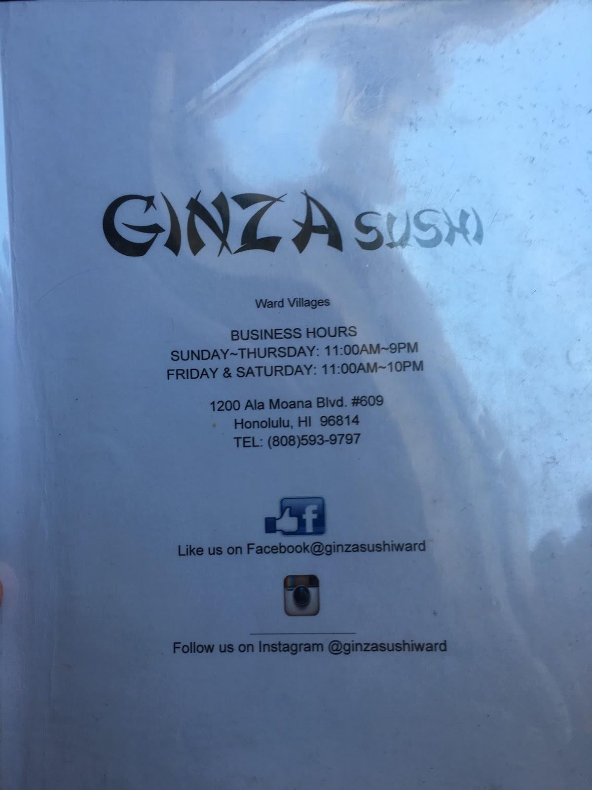TASTE OF HAWAII: GINZA SUSHI