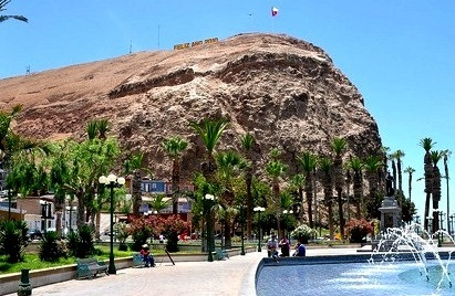 Imagen bella del Morro de Arica