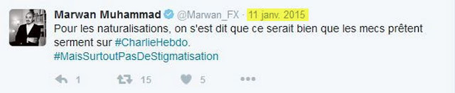 Une des réactions de Marwan Muhammad au massacre de Charlie Hebdo