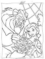 Desenhos do Filme a Bela e o Monstro para Colorir.