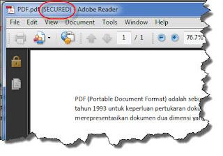protected pdf file