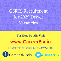 GSRTS Recruitment for 2939 Driver Vacancies