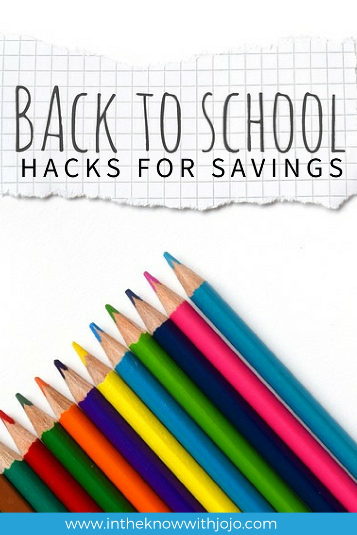 Check out these tips to save for back to school supplies