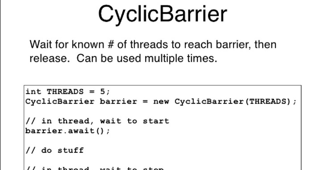 How to use CyclicBarrier in Java - Concurrency Tutorial | Java67