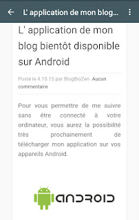 application BlogBioZen